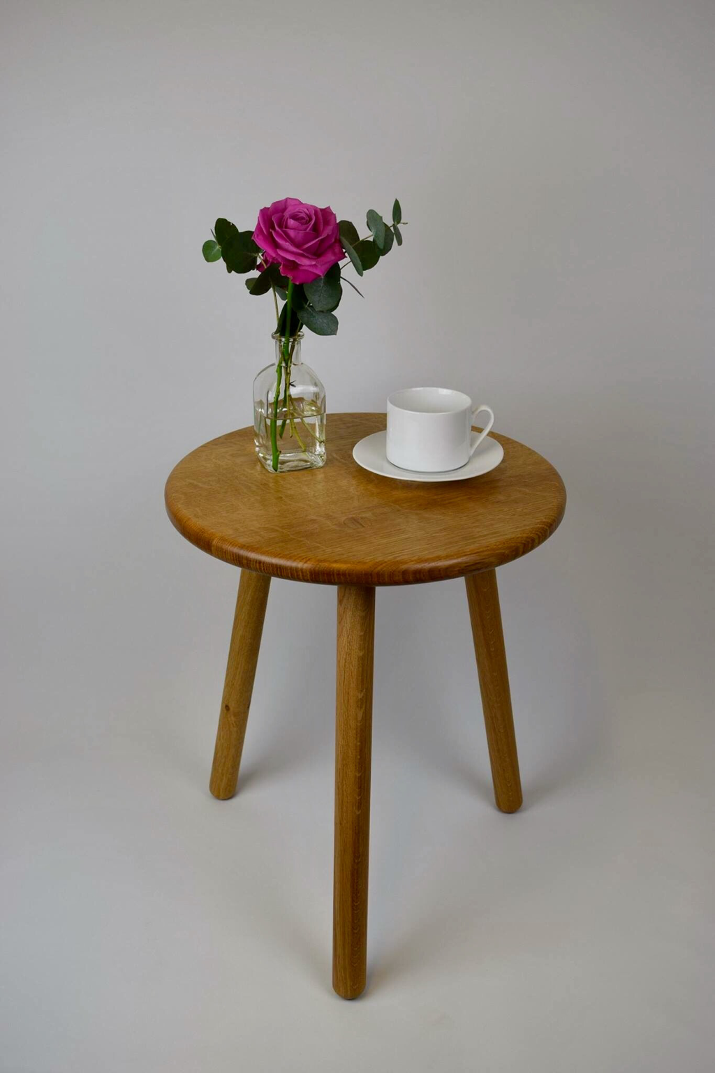 Stable Occasional Table made from sustainably sourced oak by David Stephenson in Hampshire UK